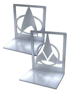 steel bookends - Star Trek Graphic Novels