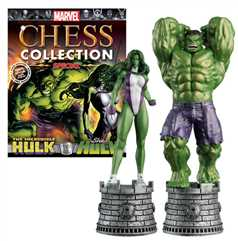 the incredible hulk & she-hulk (hero rooks) special edition - Marvel Chess