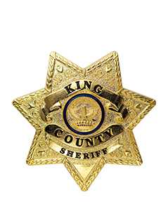 rick's sheriff badge - The Walking Dead Collector's Models