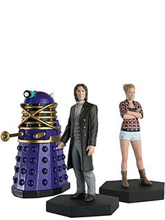 8th doctor, lucie miller, and dalek time controller companion set - Doctor Who Figurines Collection