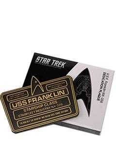 u.s.s. franklin nx-326 dedication plaque - Star Trek Starships
