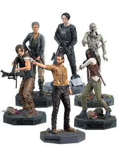 the walking dead six figurines bundle - The Walking Dead Collector's Models